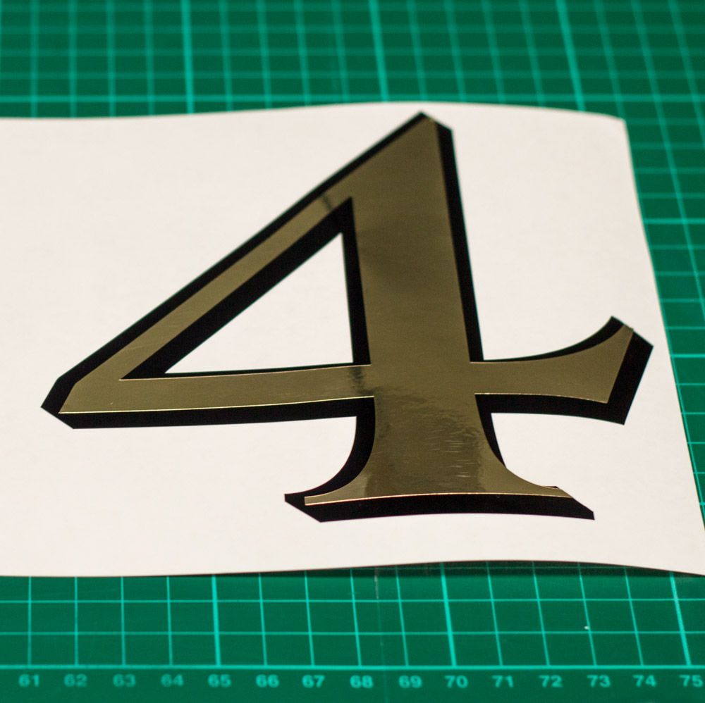 Fanlight Transom Window House Number - Period Gold leaf style Any ...